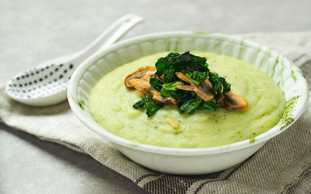 Картофельный суп с грибами и капустой