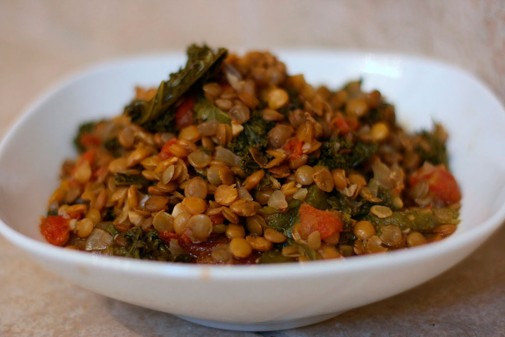 Рагу из чечевицы с овощами