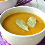 Пикантный крем-суп из тыквы с сельдереем